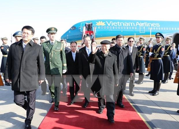 Reciben en China a lider partidista de Vietnam hinh anh 1