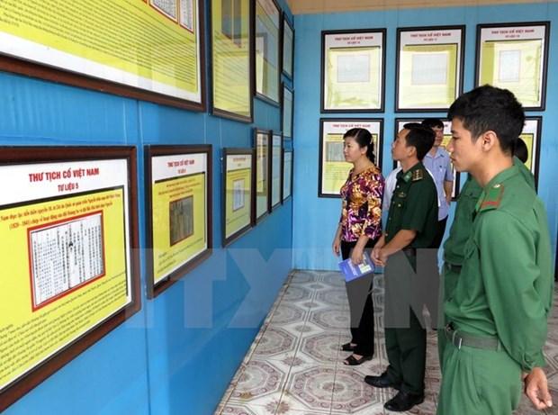Exhiben en provincia vietnamita muestras de soberania nacional en el mar hinh anh 1