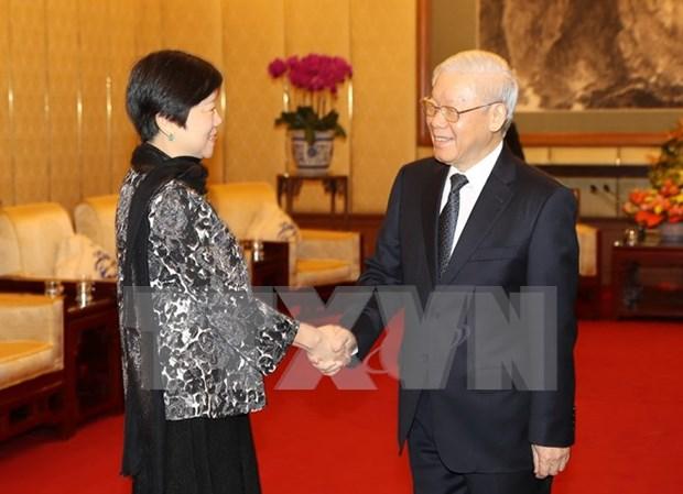 Fomento de vinculos de pueblos es base para desarrollar nexos entre Vietnam y China hinh anh 1