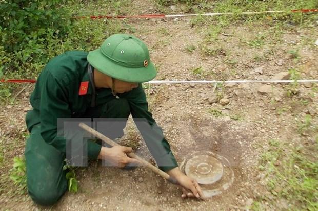 Desactivan bomba hallada en una construccion en provincia centrovietnamita hinh anh 1