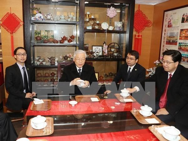 Secretario general del PCV visita provincia china de Zhejiang hinh anh 1
