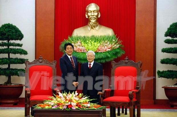 Lider partidista de Vietnam afirma politica de profundizar lazos con Japon hinh anh 1