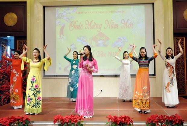 Vietnamitas en el extranjero saludan Ano Nuevo Lunar 2017 hinh anh 1