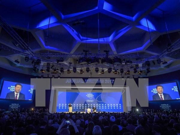 Inician reunion del Foro Economico Mundial en Davos hinh anh 1