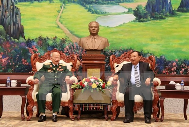 Lideres laosianos resaltan aportes de soldados voluntarios vietnamitas hinh anh 1