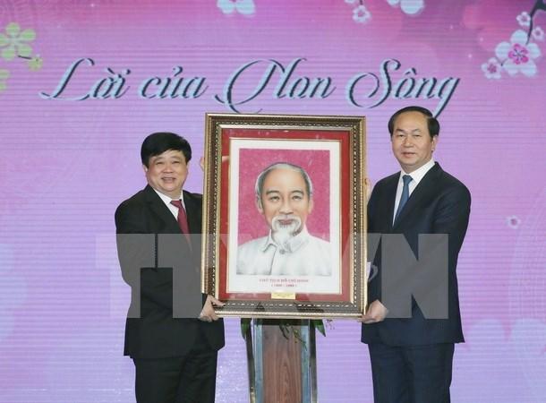 Conmemoran recitado poetico del Tet de Ho Chi Minh en onda radial nacional hinh anh 1
