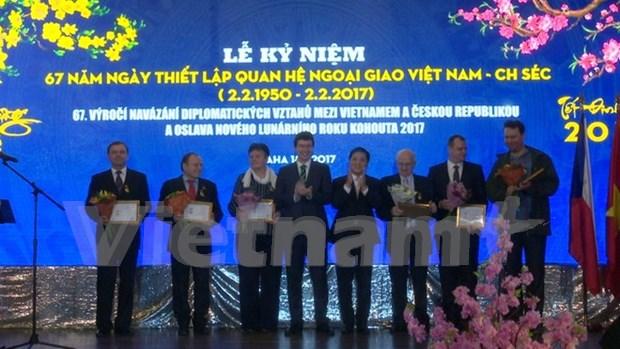 Conmemoran establecimiento de lazos Vietnam-Republica Checa hinh anh 1