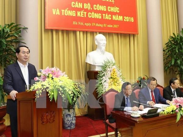 Presidente vietnamita pide mayor coordinacion para exito del APEC hinh anh 1