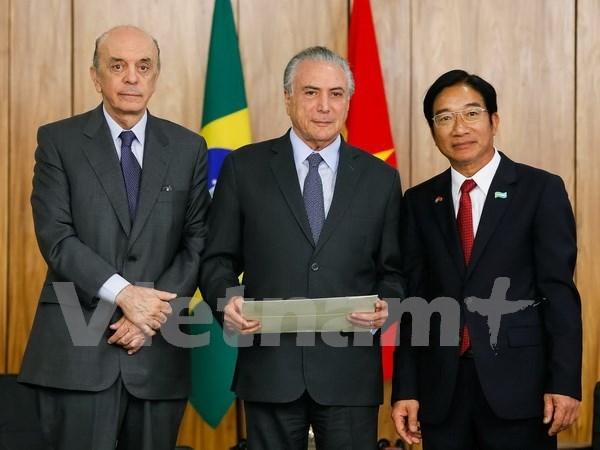 Brasil y Vietnam intensifican relaciones de colaboracion  hinh anh 1
