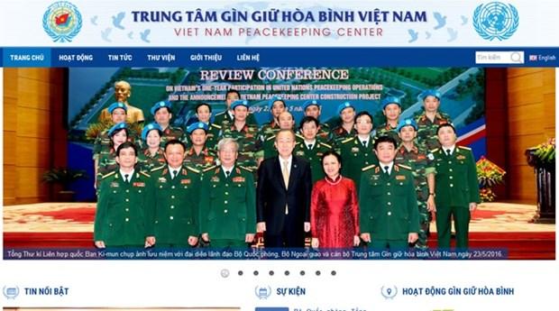 Centro de Mantenimiento de Paz de Vietnam lanza sitio web oficial hinh anh 1