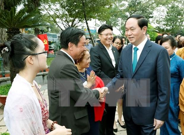 Vietnamitas en ultramar son parte inseparable de la Patria, afirma presidente hinh anh 1