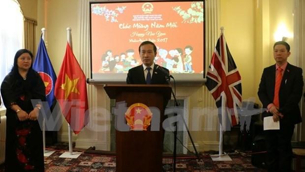 Vietnamitas en el mundo saludan Ano Nuevo Lunar hinh anh 1
