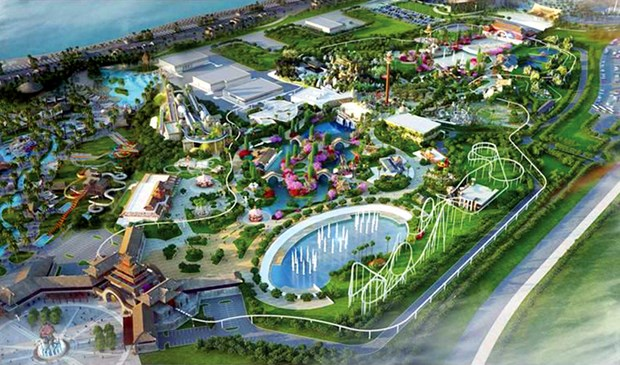 Mayor parque tematico del Sudeste de Asia abrira sus puertas en Vietnam hinh anh 1