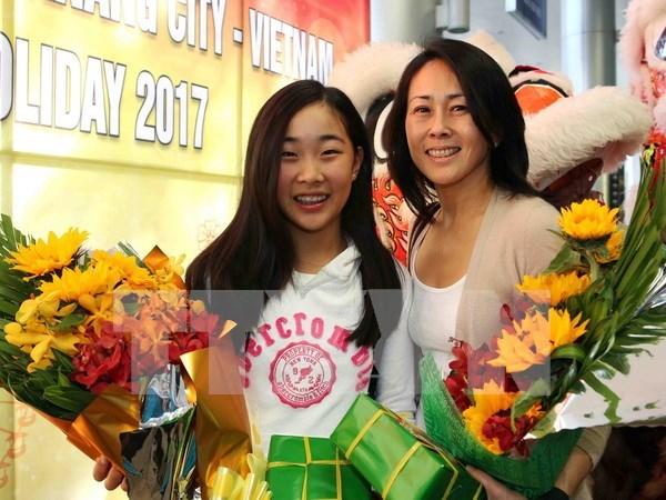 Da Nang recibe primeros visitantes internacionales hinh anh 1