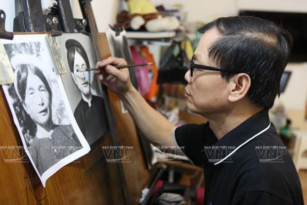 El arte de retratar en Hanoi hinh anh 1