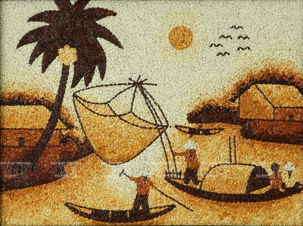 El alma vietnamita a traves de las pinturas de arroz hinh anh 1
