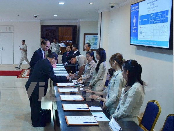 Senadores opositores boicotean reunion parlamentaria de Camboya hinh anh 1