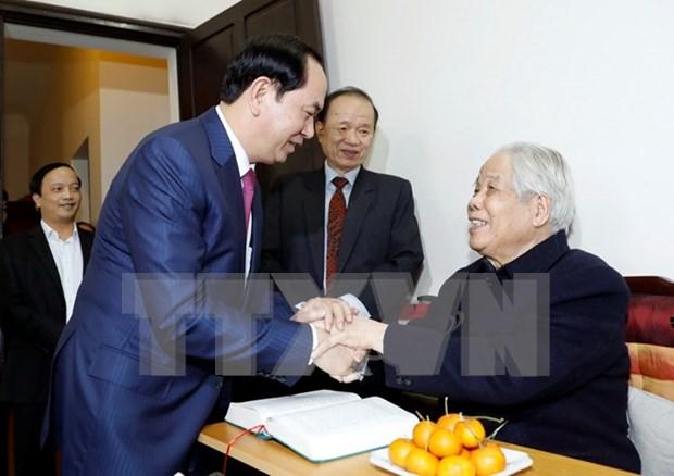 Presidente de Vietnam destaca contribuciones del exdirigente partidista hinh anh 1