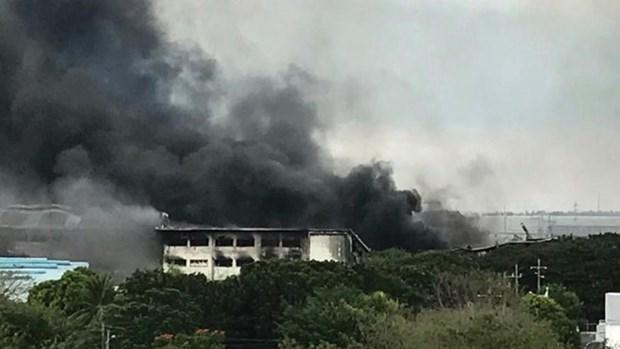 Mas de 100 heridos por incendio de una fabrica en Filipinas hinh anh 1