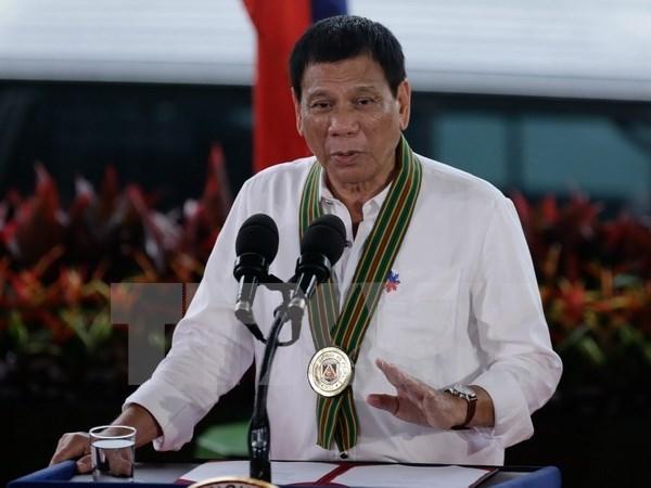 Presidente filipino excluye a policia de operaciones antidrogas hinh anh 1
