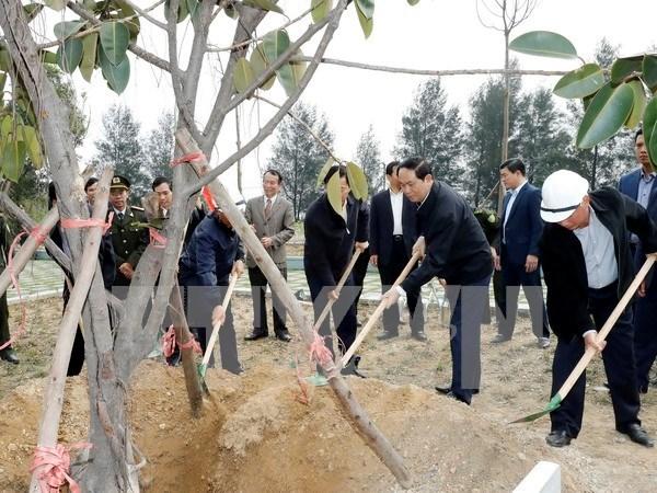 Presidente vietnamita urge a impulsar la plantacion de arboles hinh anh 1