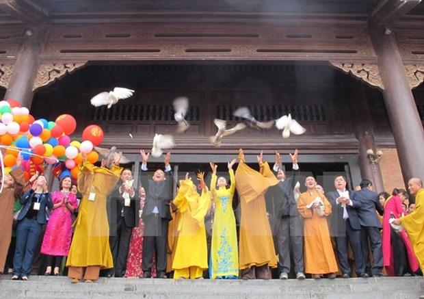 Inauguran Festival de pagoda Bai Dinh en provincia de Ninh Binh hinh anh 1