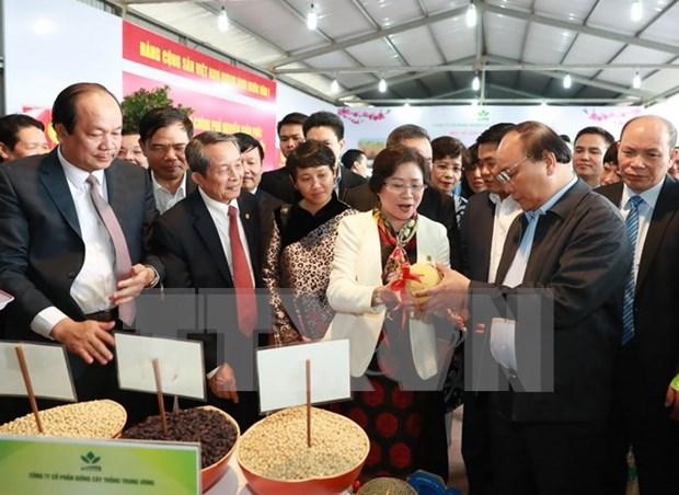 Premier vietnamita comprometido con promocion de productos agricolas hinh anh 1