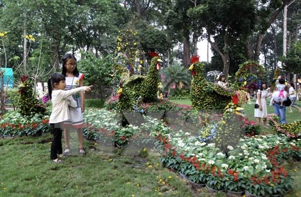 Mas de 800 mil personas asistieron a Festival de Flores en Ciudad Ho Chi Minh hinh anh 1