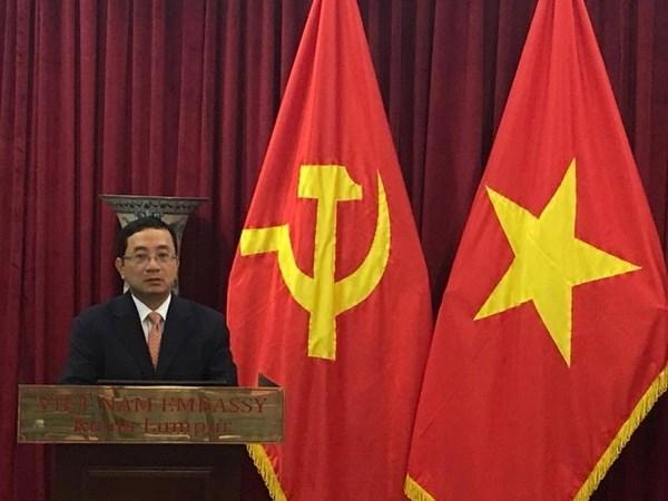 Conmemora Embajada vietnamita en Malasia fundacion del PCV hinh anh 1