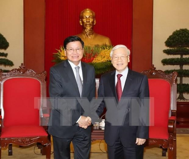 Lider partidista de Vietnam propone orientaciones de cooperacion con Laos hinh anh 1