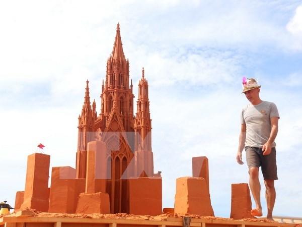 Primer parque de estatuas de arena en Vietnam hinh anh 1