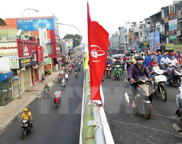 Construyen en Ciudad Ho Chi Minh pasos elevados para aliviar congestion hinh anh 1