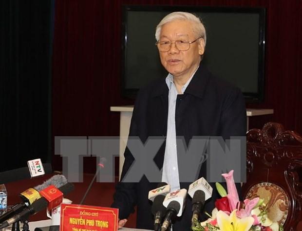 Lider partidista vietnamita visita provincia de Nam Dinh hinh anh 1