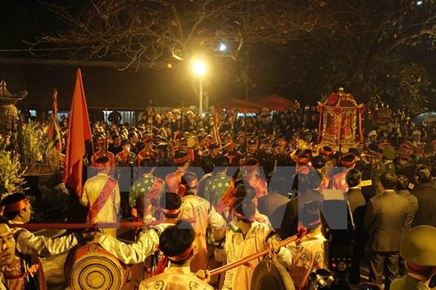 Ceremonia de Sello Real en provincia vietnamita atrae numerosos visitantes hinh anh 1