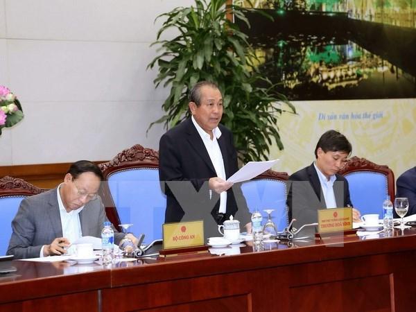 Vicepremier vietnamita pide acelerar la construccion de base nacional de datos civiles hinh anh 1
