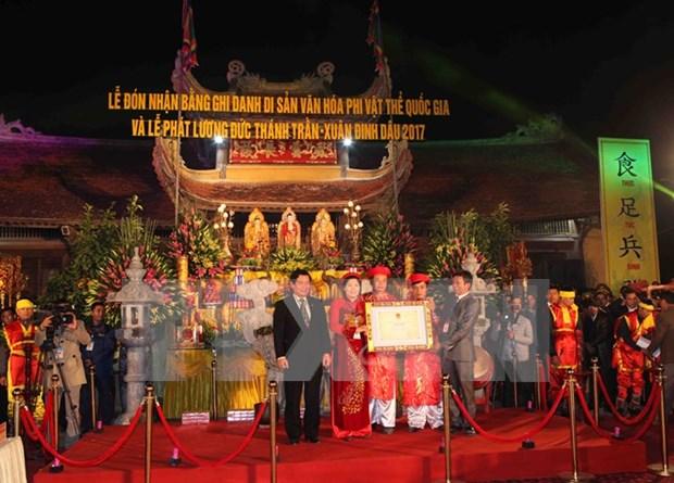 Festival de Templo Tran Thuong reconocido patrimonio intangible nacional hinh anh 1
