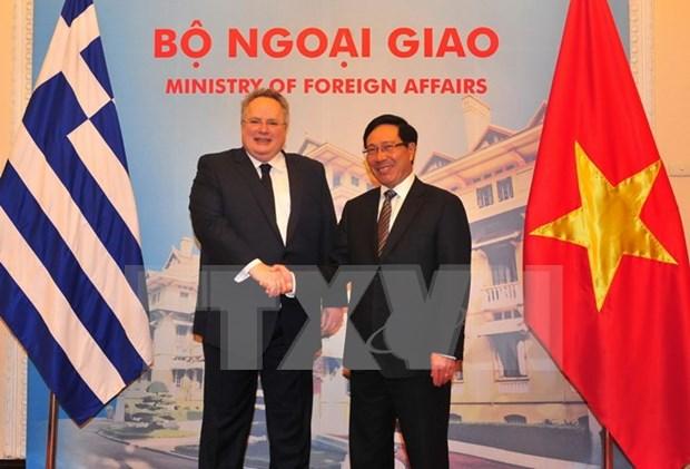 Vietnam y Grecia ratifican voluntad de propulsar cooperacion bilateral hinh anh 1