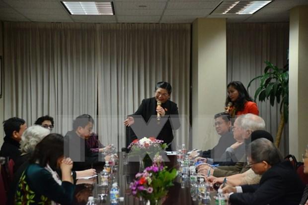Vicepresidenta del parlamento de Vietnam se reune con compatriotas en Nueva York hinh anh 1
