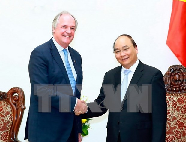 Primer ministro de Vietnam recibe al presidente de Unilever hinh anh 1