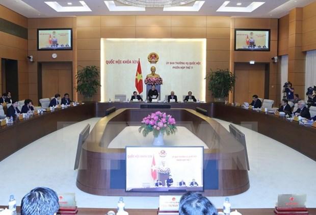Comite Permanente del Parlamento vietnamita inicia septima sesion hinh anh 1