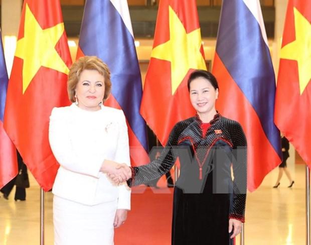 Reiteran parlamentos de Vietnam y Rusia contribucion a relaciones binacionales hinh anh 1