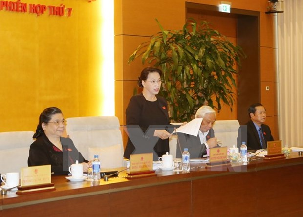 Comite Permanente del Parlamento vietnamita concluye septima sesion hinh anh 1