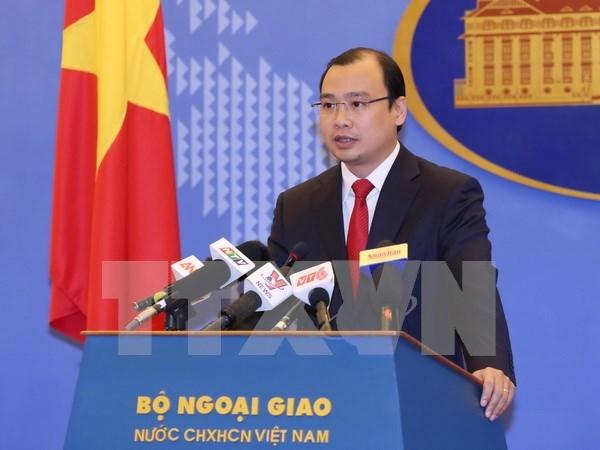 Vietnam llama a acciones responsables para evitar tensiones en Mar del Este hinh anh 1