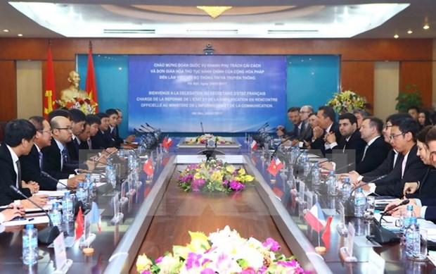 Vietnam y Francia cooperan en desarrollo de tecnologia de informaciones hinh anh 1