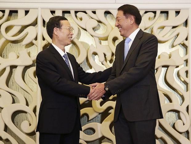 Visita a China de vicepremier singapurense busca profundizar nexos bilaterales hinh anh 1