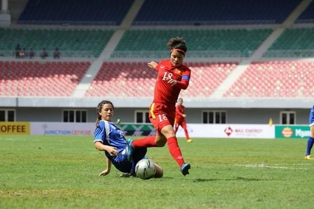 Seleccion femenina vietnamita de futbol se reune para campeonato asiatico hinh anh 1