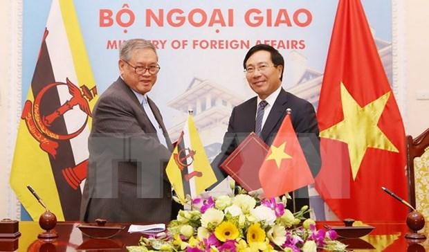 Vietnam y Brunei buscan estimular intercambio comercial hinh anh 1