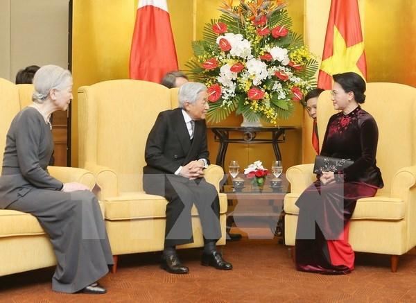 Presidenta parlamentaria de Vietnam desea intensificar lazos con Japon hinh anh 1