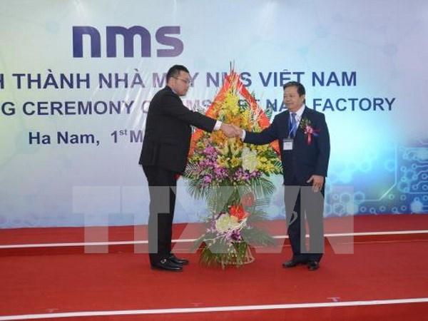 Inauguran en Vietnam fabrica de empresa japonesa NMS hinh anh 1
