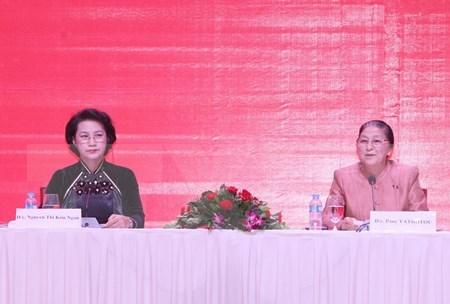 Presidenta parlamentaria de Laos visitara Vietnam hinh anh 1